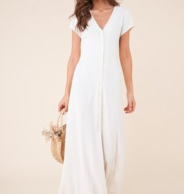 SugarLips Button Front Midi Dress