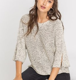 Lush Oversize Speckled Sweater
