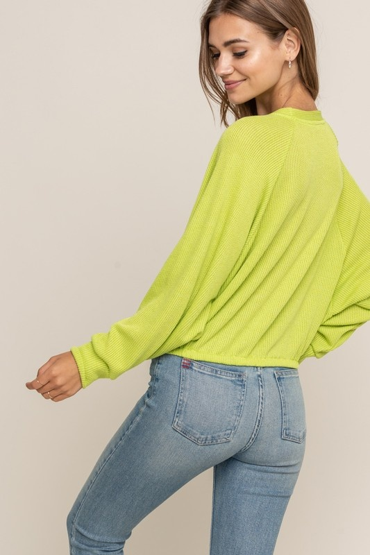 Lush Crop Dolman Top