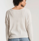 Z Supply Tie Front Thermal Top