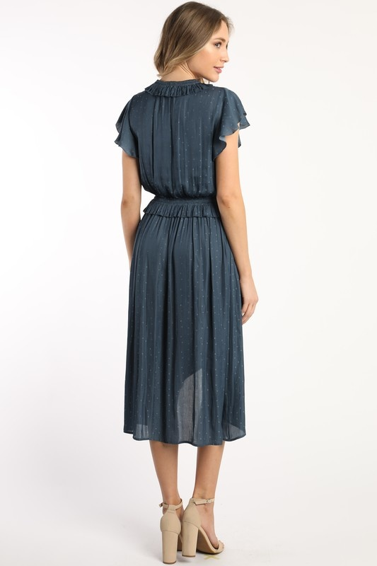 Skies are blue Satin Cross Front Dress