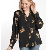 Floral Button Down Blouse