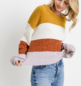 Paper Crane Color Block Sweater