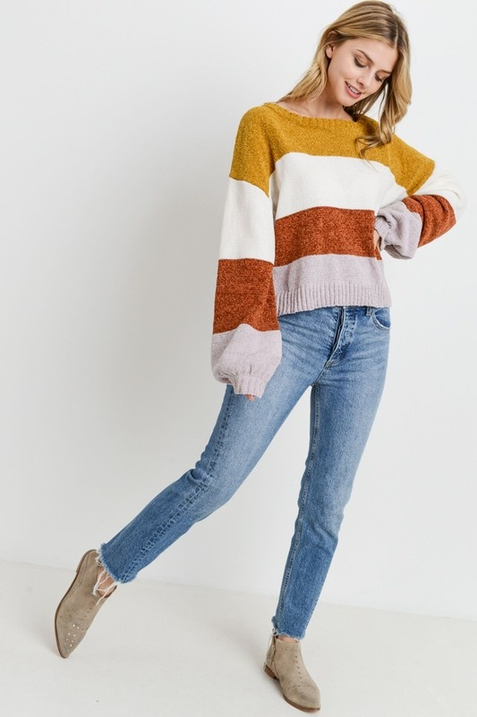 Paper Crane Color Block Sweater