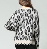 Fate Leopard Distressed Sweater