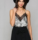 By Together Lace Snakeskin Cami