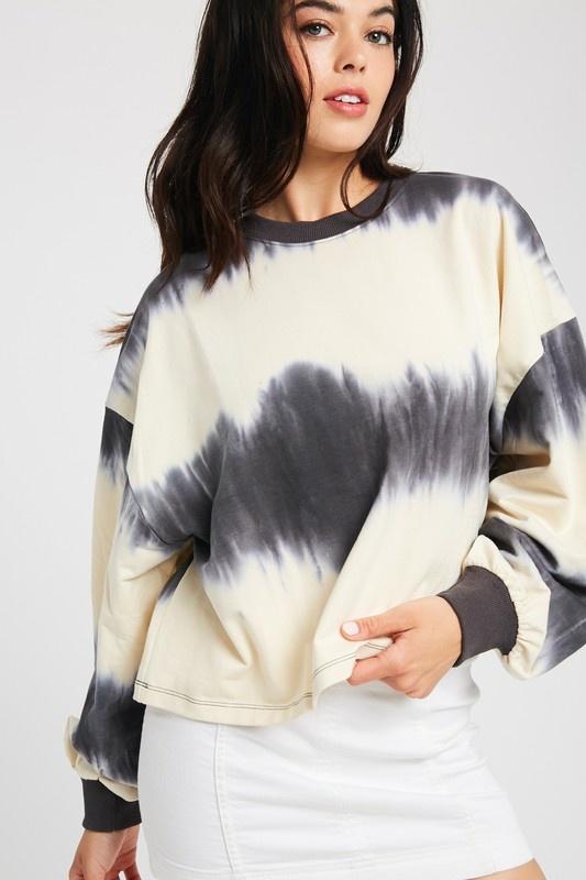 Wishlist Tie Dye Crop Pullover
