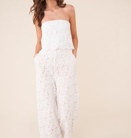 SugarLips Strapless Lace Jumpsuit