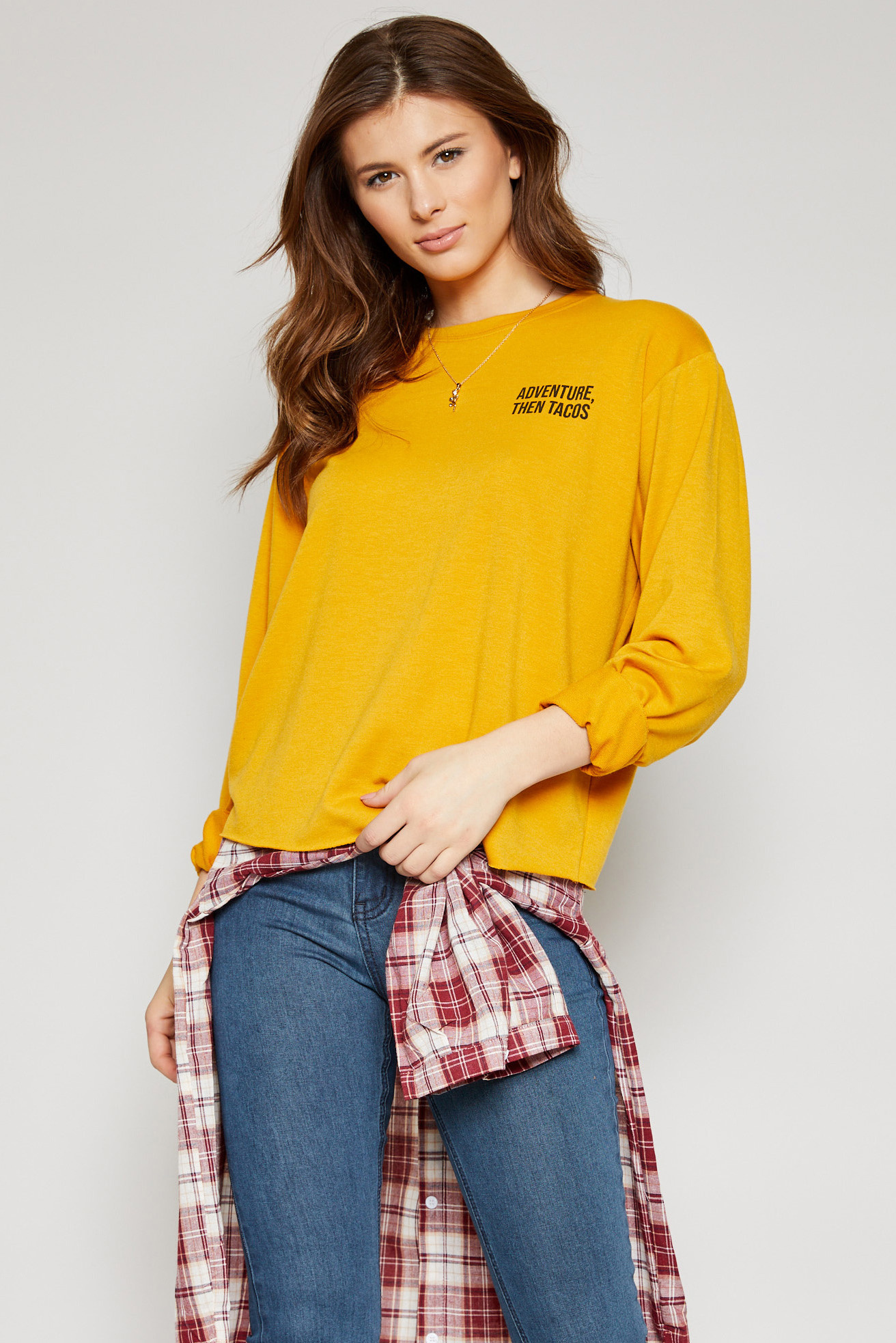Sadie & Sage Then Tacos L/S Top