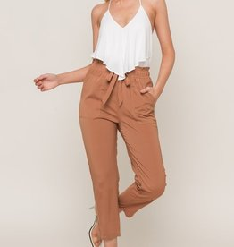 Woven Rust Trousers