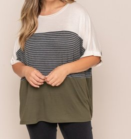 All In Favor Color Block Tee