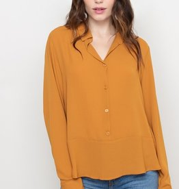 All In Favor Chiffon Button Blouse