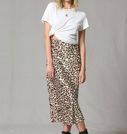 By Together Leopard Satin Skirt