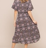 All In Favor Paisley Midi Dress