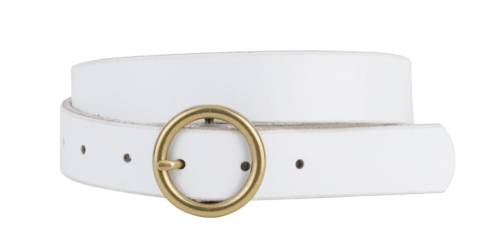Most Wanted USA Circle Buckle Leather Belt