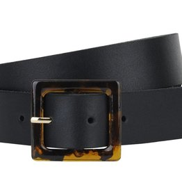 Most Wanted USA Acrylic Buckle Leather Belt
