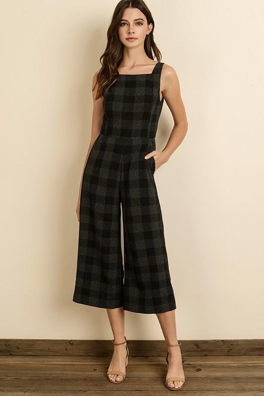 Dress Forum Check Culotte Jumper