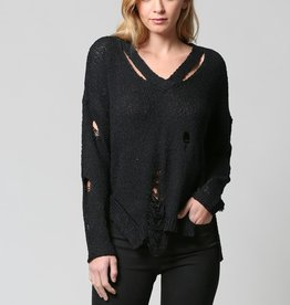 Fate V Distressed Sweater