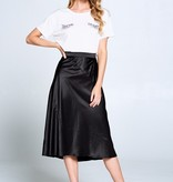 Ellison Satin Midi Skirt