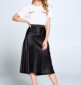 Ellison Satin Midi Skirt