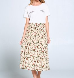 Ellison Floral Pleated Skirt