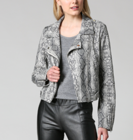 Fate Animal Print Suede Moto
