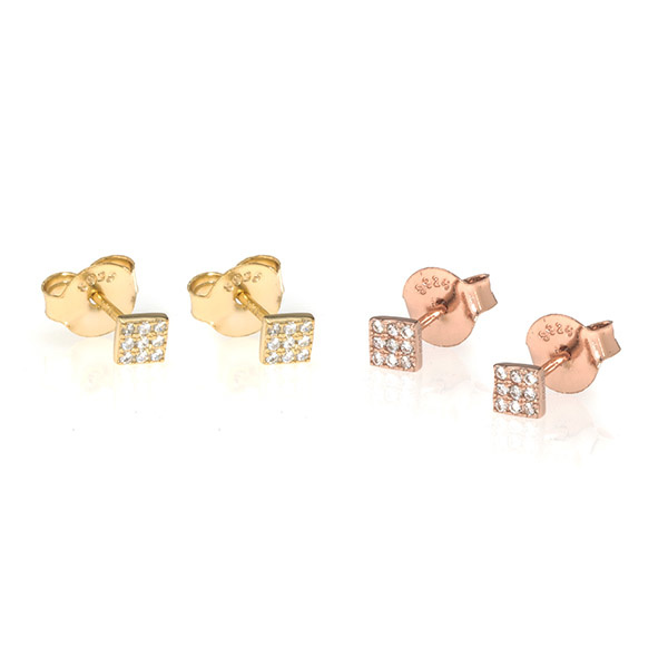 Anuja Square Studs Gold