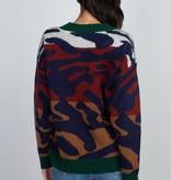 Dreamers Color Block Zebra Sweater