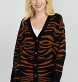 Dreamers Tiger Button Cardigan