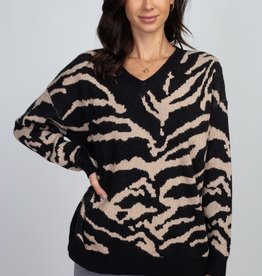 Dreamers Zebra Print Sweater