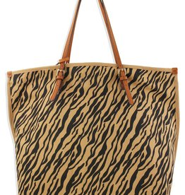 Street Level Tiger Canvas Tote
