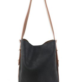 Street Level Two Tone Bucket Bag