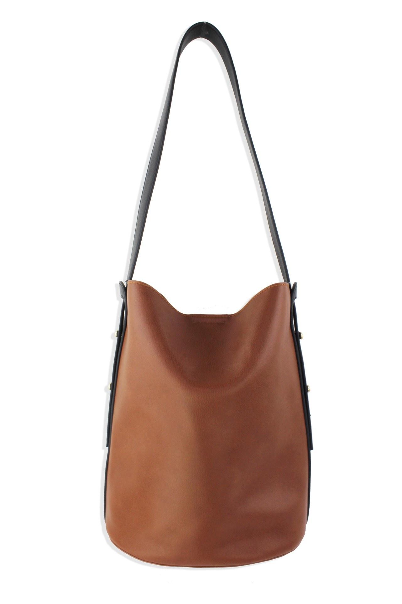 Street Level Two Tone Bucket Bag