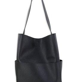 Street Level Outside Pocket Shoulder Bag