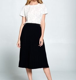 Ellison Pleated Knit Skirt