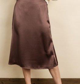 Dress Forum Satin Midi Skirt