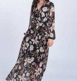 Everly Floral Surplice Maxi