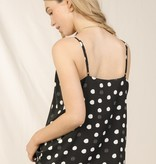 Skies are blue Polka Dot Lace Cami
