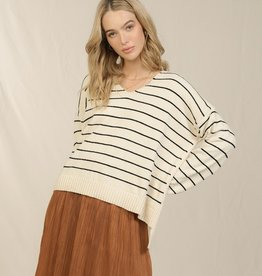 Skies are blue Chenille Stripe Sweater