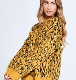 Ellison Furry Leopard Sweater