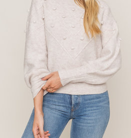 Lush Pom Detail Sweater