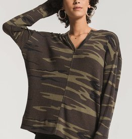 Z Supply Thermal Split Neck Top