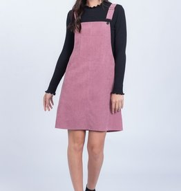 Everly Solid Woven Overall Dress