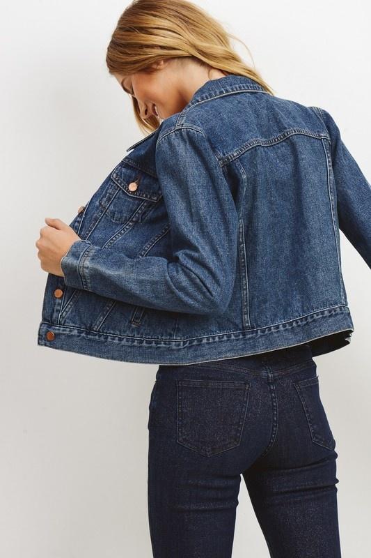Just Black Denim Cropped Denim Jacket