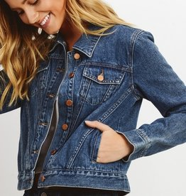 Just Black Denim Cropped Denim Jacket