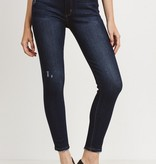 Just Black Denim H/R Hem Destruction Skinny