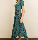 Dress Forum Floral Handkerchief Hem Midi