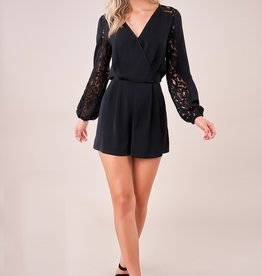 SugarLips Mixed Lace Romper