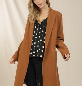 Skies are blue Single Button Midi Coat
