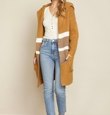 Dress Forum Color Block Hood Cardi